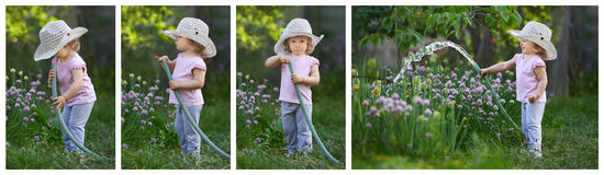Histoire de surprise de jardin pour un petit enfant Photos stock