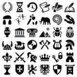 Histoire et icône de culture illustration libre de droits