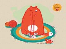Histoires de chat Ensemble d'illustrations de vecteur au sujet des chats drôles illustration de vecteur