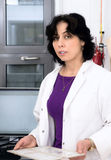 Histopathologist or microscopist holds tissue samples Stock Photos