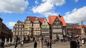Histor Center of Bremen, Germany stock footage