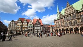 Histor Center of Bremen, Germany stock video footage
