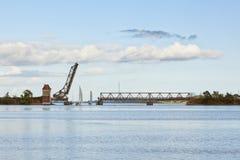Historci bascule bridge at Lindaunis Stock Photo