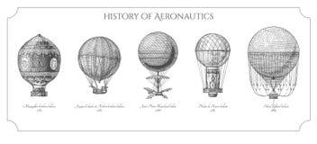 Historia av aeronautik stock illustrationer
