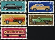 Historia av den ryska bilindustrin Royaltyfria Foton
