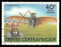 Historia av flyg, Clement Ader royaltyfri fotografi