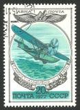 Historia av ryskt flygplan Arkivbild