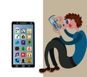 Historia av telefonen 4 stock illustrationer