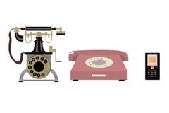 Historia av telefonen Arkivbilder