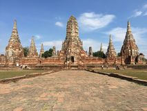 Historia av templet arkivbild