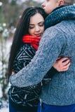Historia de amor del invierno Fotografía de archivo libre de regalías