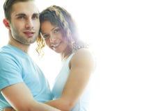 Historia de amor feliz Imágenes de archivo libres de regalías