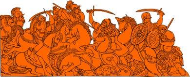 Historia de la batalla Imagen de archivo