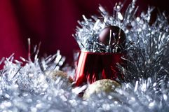 Historia de la Navidad en malla foto de archivo
