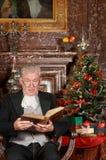 Historia de la Navidad en un castillo Imagen de archivo libre de regalías