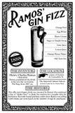 Historia de las libaciones o de los cócteles de New Orleans Foto de archivo