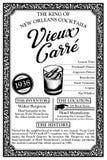 Historia de las libaciones o de los cócteles de New Orleans Fotos de archivo libres de regalías