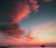 Historia de las nubes Imágenes de archivo libres de regalías