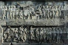 Historia del alivio en Borobudur Imagen de archivo libre de regalías