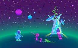Historia del arte del pixel sobre amistad stock de ilustración