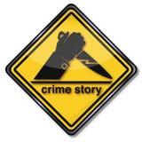 Historia del crimen de la muestra ilustración del vector