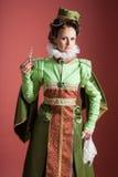 Historia del diseño de la moda - siglo XVI Imagen de archivo libre de regalías
