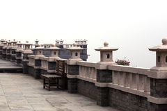 Historia del edificio del templo de China Pekín Foto de archivo