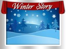 Historia del invierno ilustración del vector
