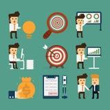 Historia del negocio stock de ilustración