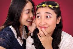 Historia divertida de las amigas Fotografía de archivo libre de regalías