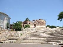 historia Fördärvar av den forntida amfiteatern i Nessebar lökformig Royaltyfria Foton