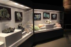 Historia informativa de la cubierta del objeto expuesto del descubrimiento de piedras preciosas en Nueva York, el museo del estad Imagen de archivo