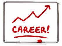 Historia Job Prospect Achievement del trabajo de la carrera Imágenes de archivo libres de regalías