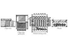 Historia kalkulatorskie maszyny royalty ilustracja