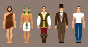 Historia ludzki rozwój również zwrócić corel ilustracji wektora ilustracja wektor