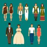 Historia ludzki rozwój również zwrócić corel ilustracji wektora Zdjęcia Royalty Free