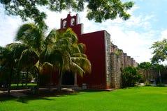 Historia mexicano de la arquitectura de Merida Churbunacolonial de la iglesia imagen de archivo libre de regalías
