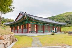 Historia Pasillo del castillo de Dongnae en Busán, Corea Imagen de archivo libre de regalías