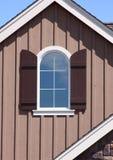 historia szczytu okno w domu Zdjęcia Royalty Free