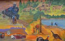 Historia Williams malowidło ścienne Zdjęcia Royalty Free