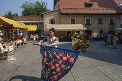 Historial. The Škofja Loka Festival of History - Historial, designed to revive and reawaken the ancient medieval spirit of Škofja Loka`s old town centre Stock Photo