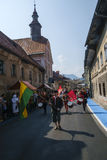 Historial. The Škofja Loka Festival of History - Historial, designed to revive and reawaken the ancient medieval spirit of Škofja Loka`s old town centre Stock Image