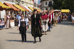 Historial. The Škofja Loka Festival of History - Historial, designed to revive and reawaken the ancient medieval spirit of Škofja Loka`s old town centre Stock Photos