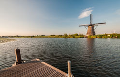 Historians Dutch windmills Stock Images