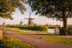 Historians Dutch windmills Royalty Free Stock Photos