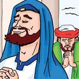 Historias de la biblia - el Pharisee y el colector de impuesto Fotografía de archivo libre de regalías