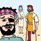 Historias de la biblia - la parábola del gran banquete stock de ilustración