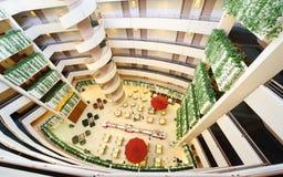 Historias en hotel; restaurante abajo Fotografía de archivo libre de regalías