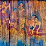 Historias tailandesas tradicionales del arte del estilo imagenes de archivo