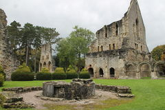 Historic abbey ruins. Historic Cistercian abbey ruins in England UK Stock Photos